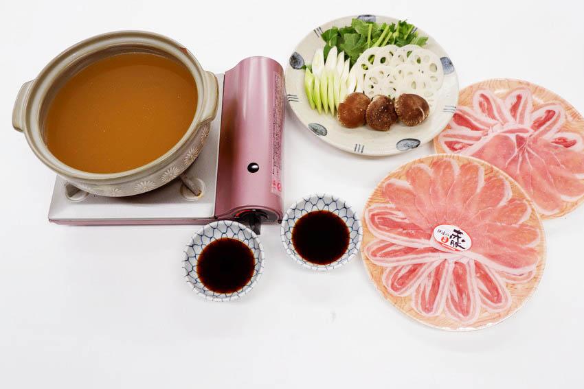 【くんぺるランチ便】うまみエキスたっぷりスープで食べる伊達の純粋赤豚しゃぶしゃぶ!_9