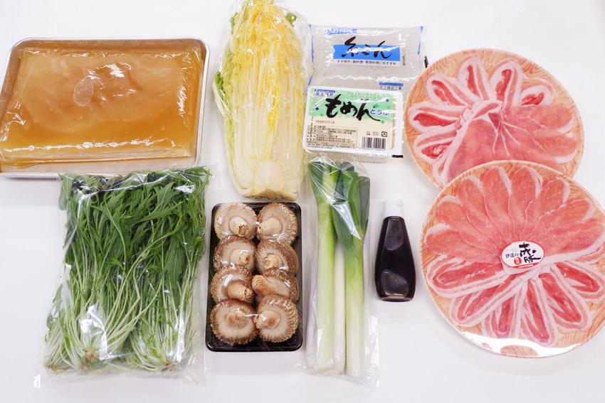 【くんぺるランチ便】肉のうまみたっぷり出汁で食べる赤豚鍋!