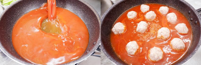 【シェフのこんだて直送便】春キャベツとミートボールのトマト煮と春キャベツのベーコンスープ、自家製カンパーニュ