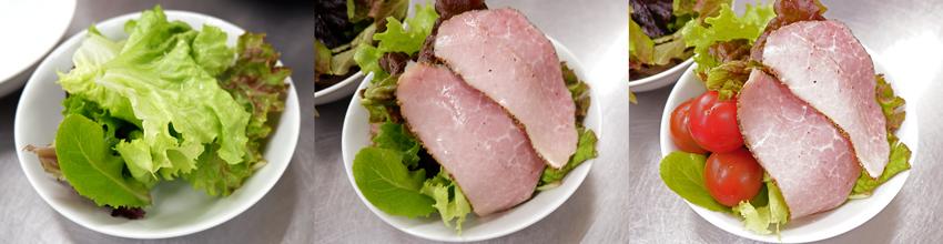 【シェフのこんだて直送便】豚バラのさっぱり酢煮とペッパーボンレスハムのサラダ