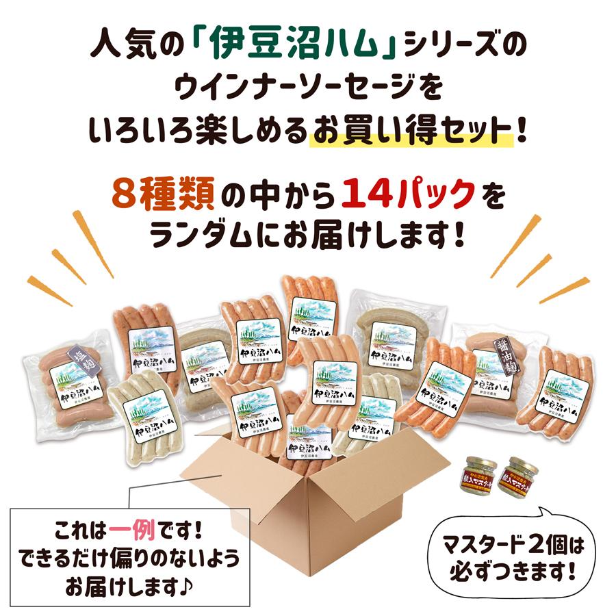 人気の「伊豆沼ハム」シリーズのウインナーソーセージをいろいろ楽しめるお買い得セット!