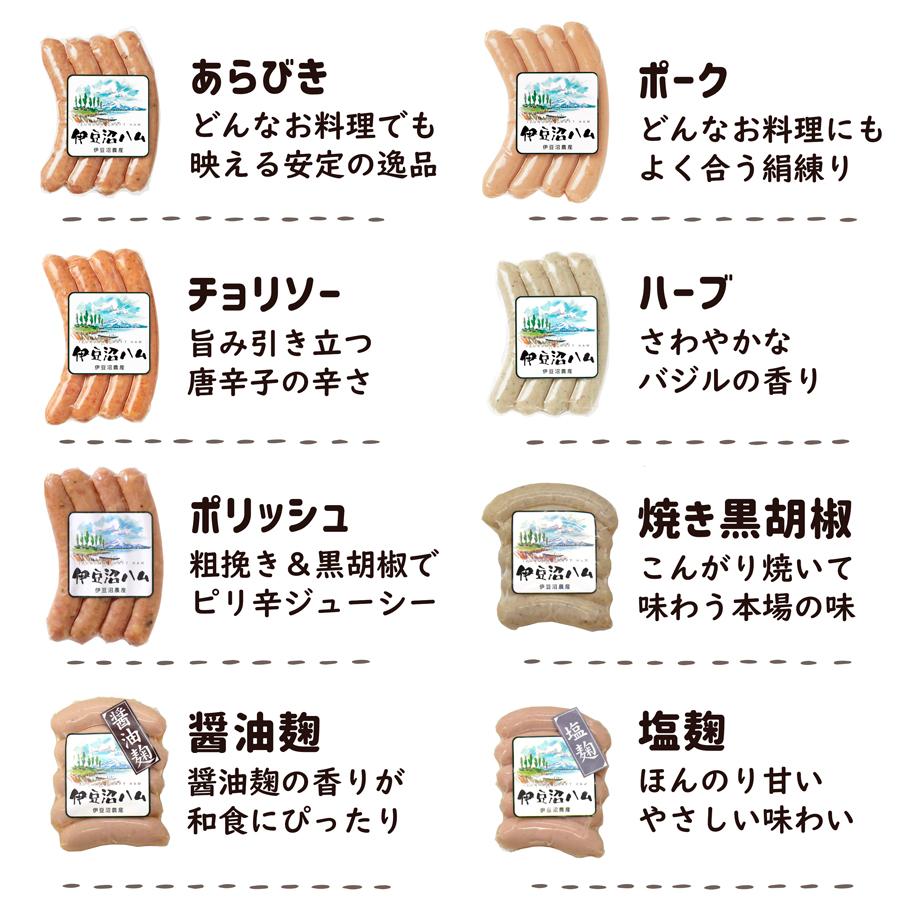 人気の「伊豆沼ハム」シリーズ各種ウインナーソーセージ!