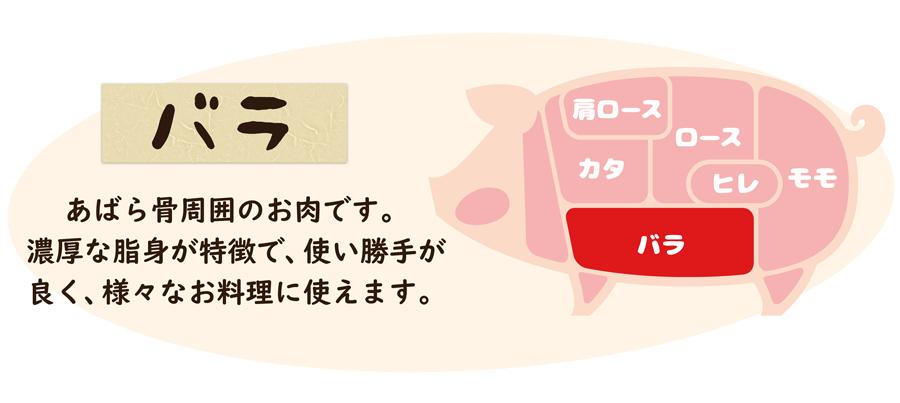 伊豆沼豚 バラ