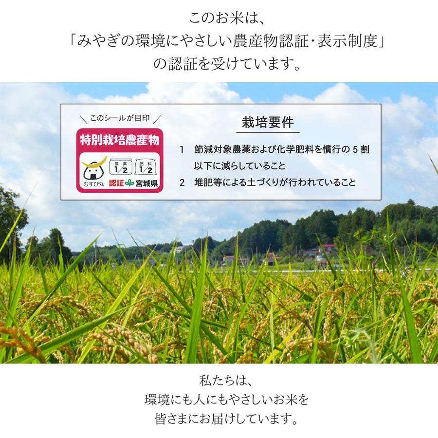 宮城県の認証を取得したお米です。