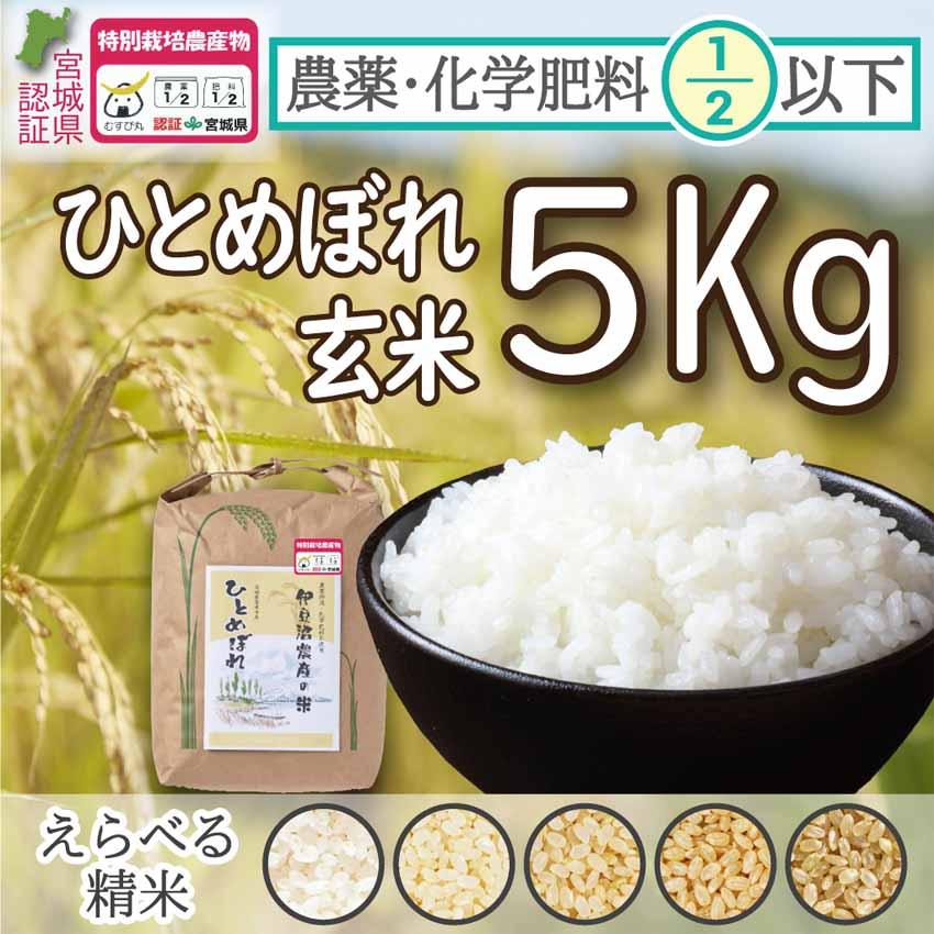 節減米玄米5Kg